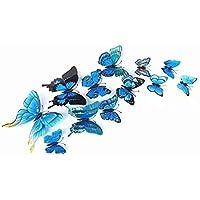 Adhesivos 3D decorativos para pared, diseño de mariposas. 12 unidades