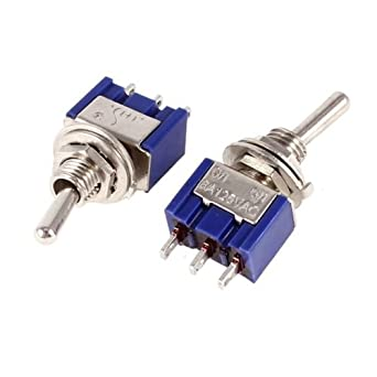 10 Pcs MTS-102 6A 125VAC 3A 250VAC SPDT 3-Pin SPDT ON-ON Mini Toggle Switches
