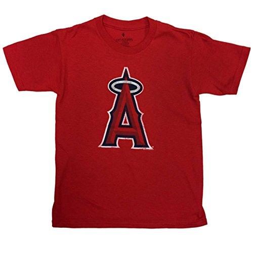 Los Angeles Angels SAAG YOUTH KIDS Red Short Sleeve one hundred% Cotton T-Shirt – DiZiSports Store