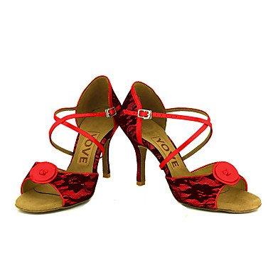 Personalizado Zapatos Tacón Rojo baile White Salsa Personalizables Amarillo Blanco de Latino 4FgzqwxU4