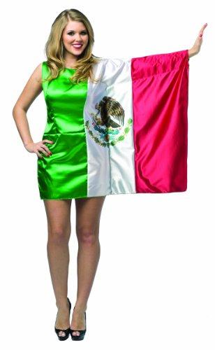 Rasta Imposta Women's Flag Dress Mexico, Red/Green/White, One Size -