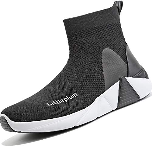 Littleplum Women's Walking Shoes Running Socks Platform Fashion Mesh Sneakers Air Cushion Athletic Gym Casual Loafers Dance Hip-hop Shoes for Kids Boys Girls