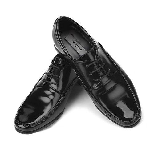 Nouvelle Robe De Mouvement En Cuir Pour Hommes Lacent Des Chaussures Noires