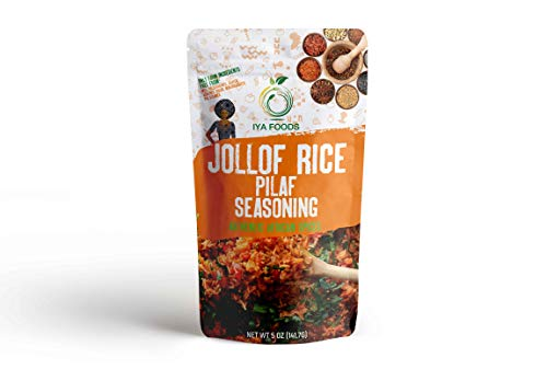 Iya Foods Jollof Rice Seasoning 5 oz No Preservatives, No Added Color, No Additives, No MSG
