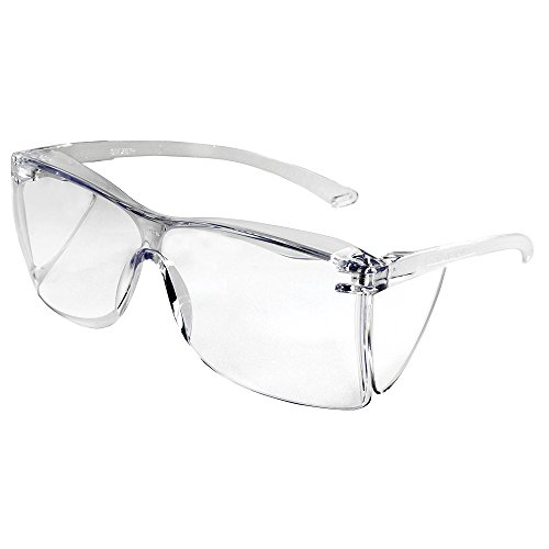 Sellstrom S79103 Guest-Gard Visitor Spec Series, Safety Glasses, Protective Eyewear, Clear Lens, Clear Frame with - Safety Glasses Series