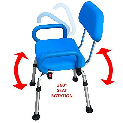 Platinum Health Revolution Pivoting Shower Chair with Padded Back and Arms by Platinum Health