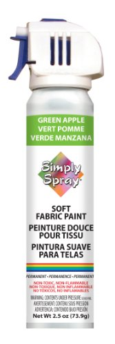 Deval Simply Spray 2-1/2-Ounce Soft Fabric Paint, Green Apple