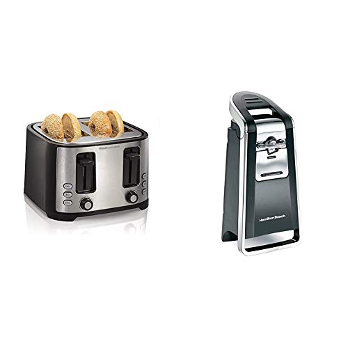 Hamilton Beach 4 Slice Extra Wide Slot Toaster with Defrost and Bagel Functions, Shade Selector,Black & Smooth Touch…