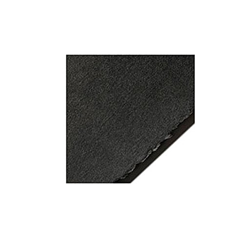 Legion Stonehenge Paper, Cotton Deckle Edge Sheets, 22 X 30 inches, Black, Pack of 10 (F05-STN250BKH10)
