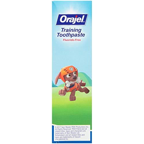 41eOdVW%2B9gL - Orajel Paw Patrol Fluoride-Free Training Toothpaste, Fruity Fun Flavor, One 1.5oz Tube: Orajel #1 Pediatrician Recommended Brand For Kids Non-Fluoride Toothpaste