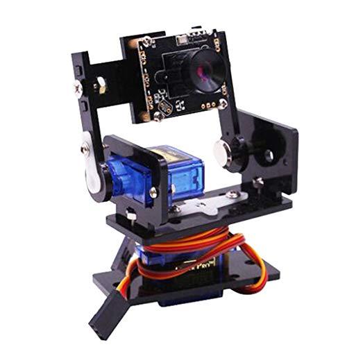 Pan Servos Tilt (B Blesiya Camera Module Smart Vision Sensor Pan-Tilt Kit with 2 pcs Micro Servos Smart Robot HD Camera for Raspberry Pi)