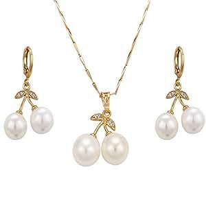 juvel-jewelry Fashion Jewelry Set de Oro Woman con bañados en oro 18K