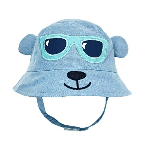 all Cap Striped Sunhat Girl Brim Sun Protection Bow Hat (Bucket hat7 (Blue)) ()