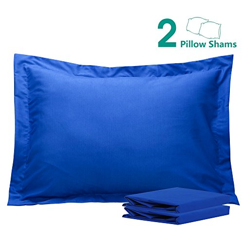 Blue Pillow Sham (NTBAY 100% Brushed Microfiber Pillow Shams Set of 2, Soft and Cozy, Wrinkle, Fade, Stain Resistant, 20
