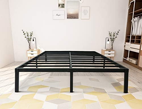zizin Bed Frame Full Size Metal 14 Inch Platform Base Heavy Duty Steel Slat Support Easy Assembly Noise Free No Box Spring Needed Full