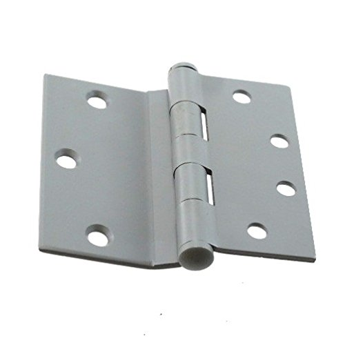 4-1/2'' Prime Coated Half Surface Butt Hinges - Sold By The Box 1-1/2 Pairs (3 Pieces)