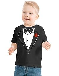 Big Boys' Tuxedo Tee | Kid's Wedding Youth & Toddler Shirt