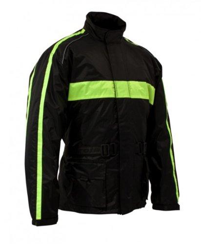 Roleff Racewear Giacca Impermeabile in Colori Moda, Nero/Giallo Neon, XXXL Roleff Römer 10017