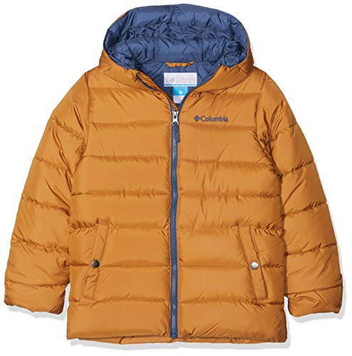 Columbia Boys' The Big Puff Ski Jacket, Yellow (Canyon Gold), Small