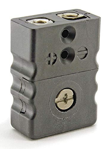Thermocouple Jack, Black, Thermocouple Type: J, Plug or Connector Type: Standard