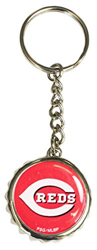 Pro Specialties Group MLB Cincinnati Reds Bottle Cap Keychain, Red, One Size