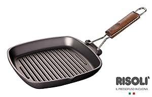 Risoli M93936 - Asador de aluminio fundido mango plegable 90 20 x 20 too