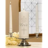 Faith, Hope and Love Unity Candle Set, 9 Inch x 3 Inch