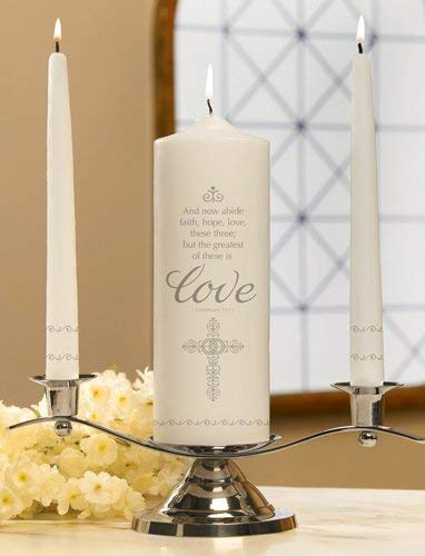 - Unity Candles Faith, Hope and Love Set, 9 Inch x 3 Inch