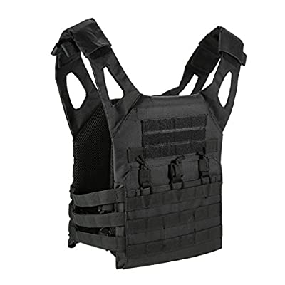 Limeile Tactical CS Field Vest Outdoor Breathable Training Protective Airsoft Vest Nylon Adjustable Gilet for Unisex Adults