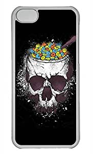 Personalized Custom Skeleton Meals for iPhone 5C PC Transparent Case