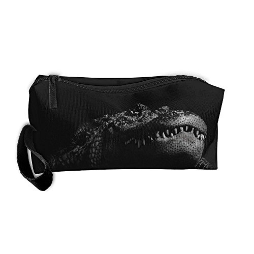 Cosmetic Bags With Zipper Makeup Bag Crocodile Middle Wallet Hangbag Wristlet Holder