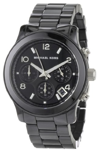 Michael Kors Women's MK5162 Black Ceramic Runway Watch