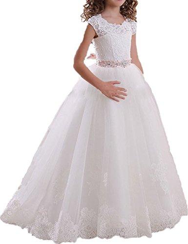ALW Lovely Flower Girl's Dress Girl's First Communion Gown (Commuion Dresses)