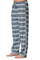 CYZ Men\'s 100% Cotton Super Soft Flannel Plaid Pajama Pant-SeaMossClintonPlaid-M