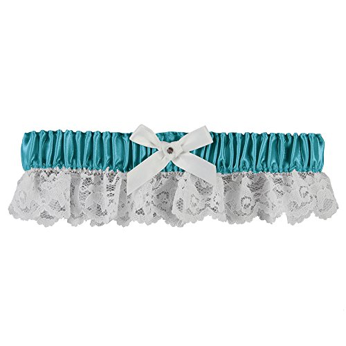 (Ivy Lane Design Lily Garter with White Bow Jade)