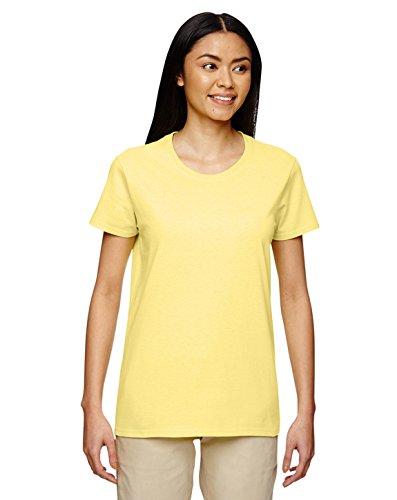 Gildan Heavy Cotton Ladies 5.3 oz. Missy Fit T-Shirt, XL, CORNSILK