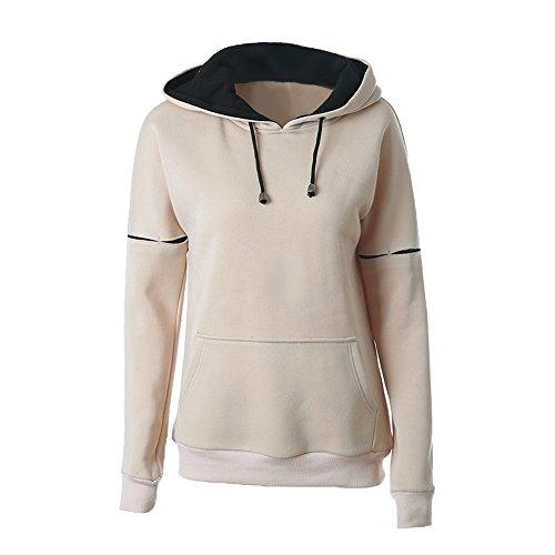 IFANS Women's Hoodie Sweatshirt EcoSmart Heavy Blend Pullover Pocket KHAKI S-XXL