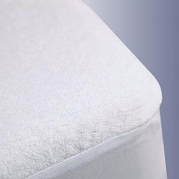 Trance Home Linen Cotton Waterproof Trance Mattress Protectors (78x36-inch, White)