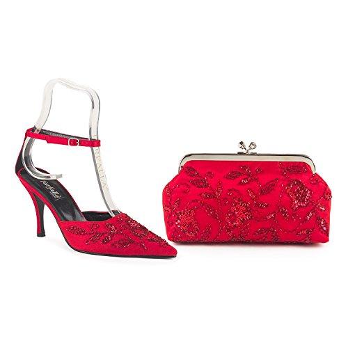 FARFALLA - Zuecos para mujer Red