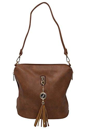 Gallantry - Bolso al hombro para mujer Marrón marrón marrón