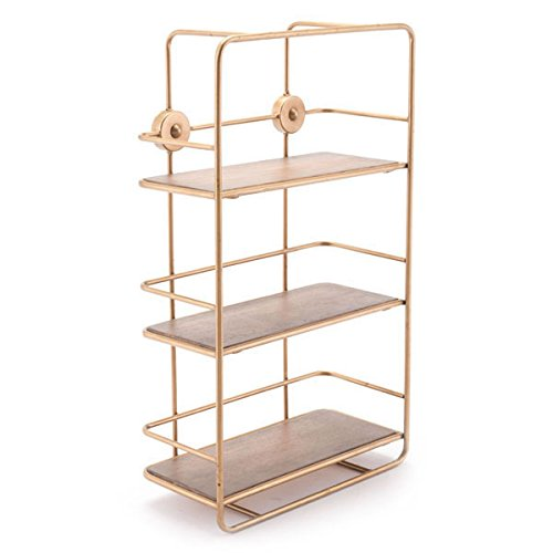Zuo Stairs Shelf, Antique Gold (Gold Shelf)