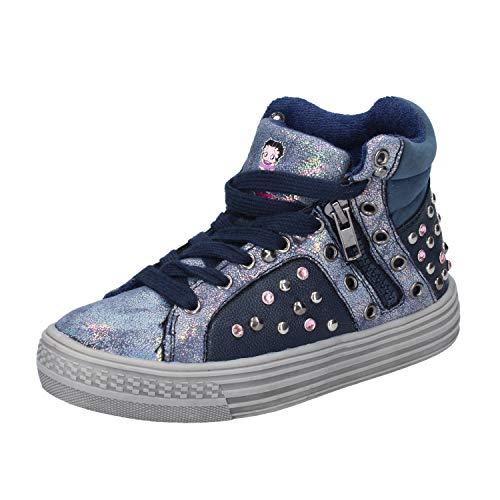 Betty Footwear - Betty Boop Fashion-Sneakers Baby-Girls Leather Blue 1 US