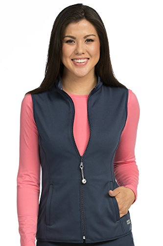 Med Couture Performance Fleece Vest for Women, Navy, X-Small