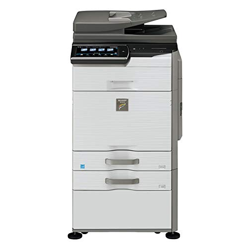 Sharp MX-3140N Tabloid-size Color Laser Multifunction Copier - 31ppm, Copy, Print, Scan, 2 Trays and Cabinet (Certified Refurbished)