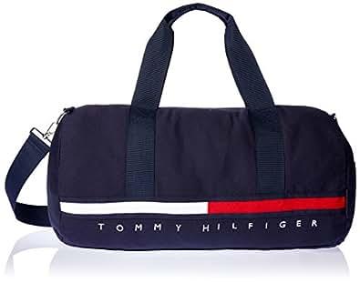 Tommy Hilfiger Gino Flag Canvas Duffle Bag, Navy Blazer