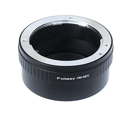Fotasy Olympus OM Lens to Sony E-Mount NEX Camera NEX-5N NEX-5R NEX-5T NEX-6 NEX-7 a6300 a6000 a5100 a5000 a3500 a3000 NEX-VG30 NEX-VG900 NEX-FS100 NEX-FS700 NEX-EA50 PXW-FS7 Adapter