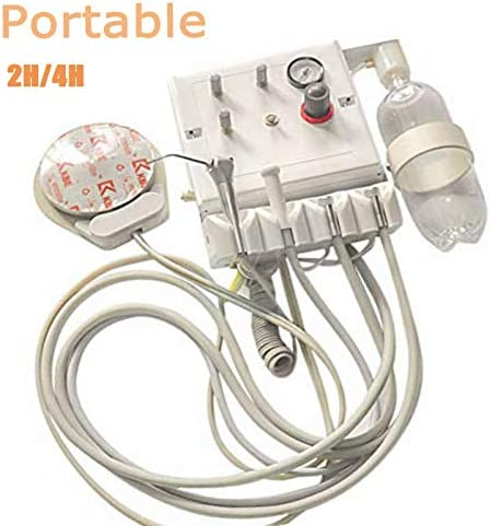 NSKI Portable Turbine Unit Work with Air Compressor Water Handpiece Syringe 2H