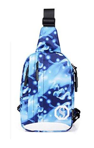 Hiking and Leisure - Bolso bandolera Niño Mujer Hombre Blue (bead pattern)