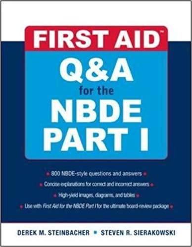 First Aid Q&A for the NBDE Part I (First Aid Series) (Pt  1