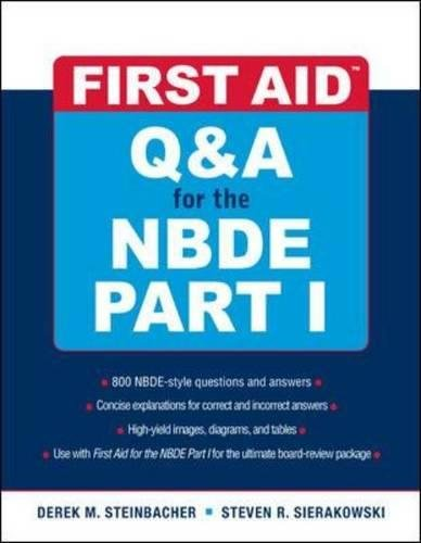 (First Aid Q&A for the NBDE Part I (First Aid Series) (Pt. 1))